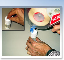 Glue Dots® are a popular choice for pharmaceutical companies in attaching outsert labels on prescription drug bottles and in other packaging of material for pharmaceutical products.